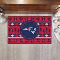 New England Patriots Christmas Sweater Starter Rug