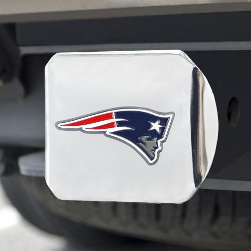 New England Patriots Chrome Color Hitch Cover