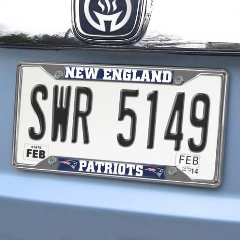 New England Patriots Chrome Metal License Plate Frame