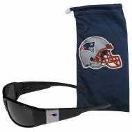 New England Patriots Chrome Wrap Sunglasses & Bag
