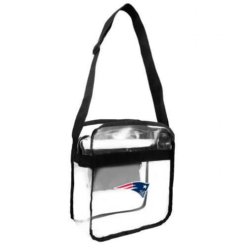 New England Patriots Clear Crossbody Carry-All Bag