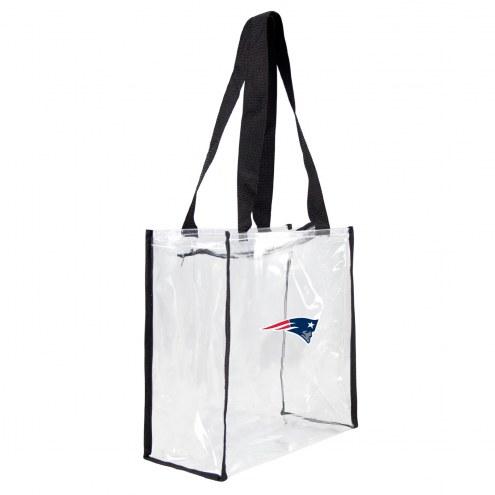 New England Patriots Clear Square Stadium Tote