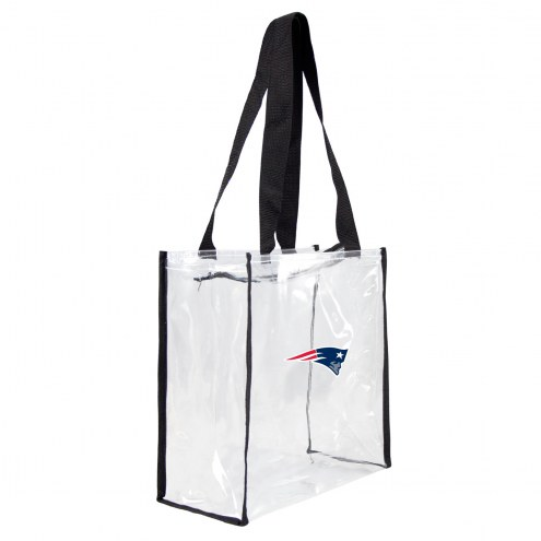 New England Patriots Clear Square Stadium Tote