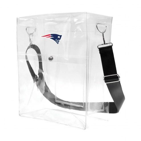 New England Patriots Clear Ticket Satchel