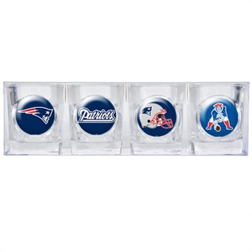 New England Patriots Collector's Shot Glass Set