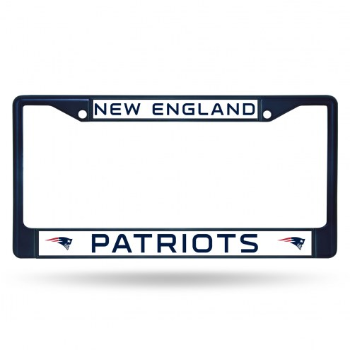 New England Patriots Color Metal License Plate Frame