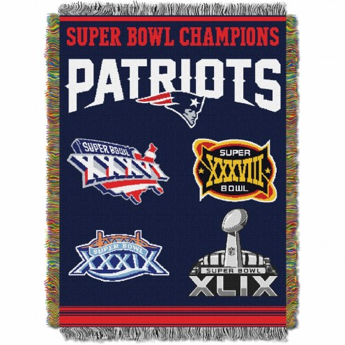 New England Patriots Commemorative Champs Throw Blanket