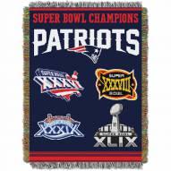 New England Patriots Commemorative Champs Throw Blanket
