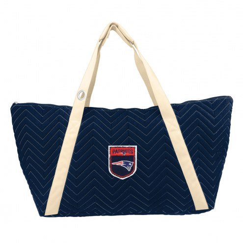 New England Patriots Crest Chevron Weekender Bag