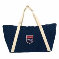 New England Patriots Crest Chevron Weekender Bag