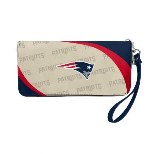 New England Patriots Curve Zip Organizer Wallet