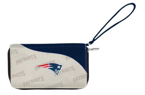 New England Patriots Curve Zip Wallet