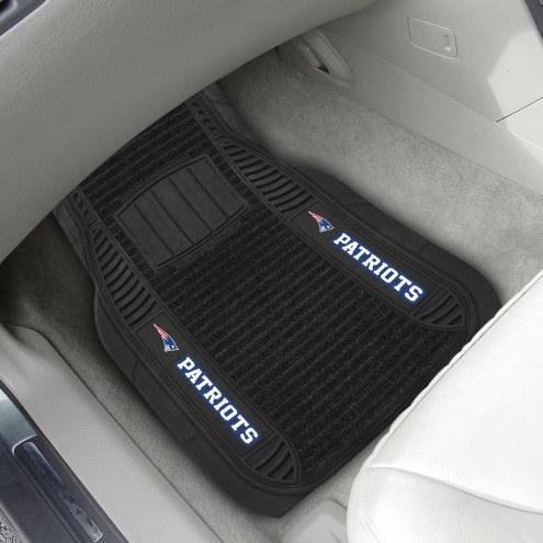 New England Patriots Deluxe Car Floor Mat Set