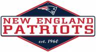 New England Patriots Diamond Panel Metal Sign