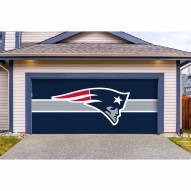 New England Patriots Double Garage Door Cover
