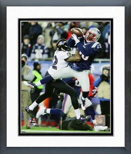 New England Patriots Duron Harmon Playoff Action Framed Photo
