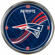 New England Patriots Dynamic Chrome Clock