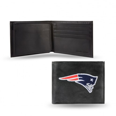 New England Patriots Embroidered Leather Billfold Wallet