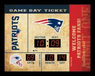 New England Patriots Bluetooth Scoreboard Wall Clock