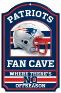 New England Patriots Fan Cave Wood Sign