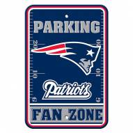 New England Patriots Fan Zone Parking Sign