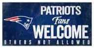 New England Patriots Fans Welcome Sign