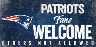 New England Patriots Fans Welcome Wood Sign