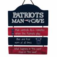 New England Patriots Man Cave Fan Zone Wood Sign