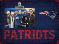 New England Patriots Wood Clip Frame