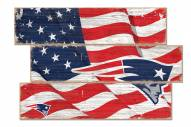 New England Patriots Flag 3 Plank Sign