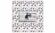 "New England Patriots Floral Pattern 10"" x 10"" Picture Frame"