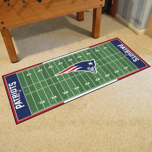New England Patriots Football Field Runner Rug