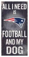 New England Patriots Football & My Dog Sign