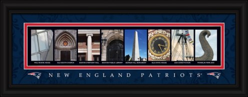 New England Patriots Framed Letter Art