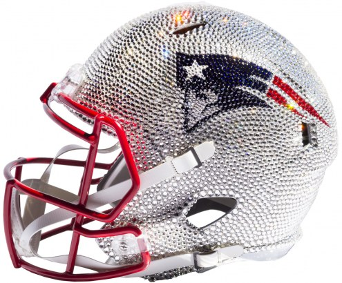 New England Patriots Full Size Swarovski Crystal Football Helmet