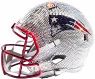 New England Patriots Full Size Swarovski Crystal Football Helmet