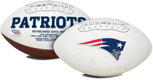 New England Patriots Full Size Embroidered Signature Series Football