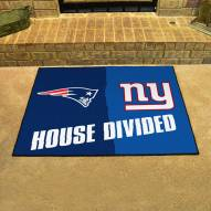 New England Patriots/New York Giants House Divided Mat