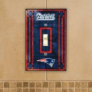 New England Patriots Glass Single Light Switch Plate Cover
