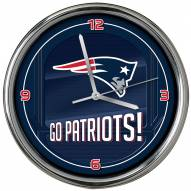 New England Patriots Go Team Chrome Clock