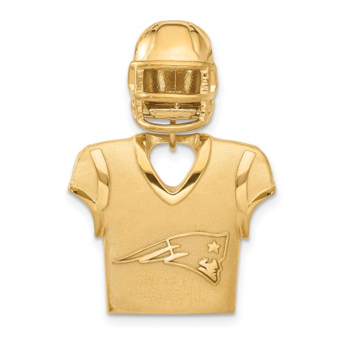 New England Patriots Gold Plated Jersey & Helmet Pendant