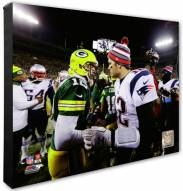 New England Patriots & Green Bay Packers Tom Brady & Aaron Rodgers Action Photo