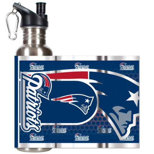 New England Patriots Hi-Def Stainless Steel Water Bottle