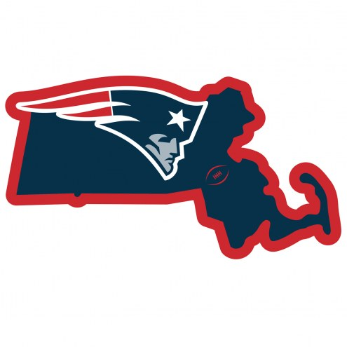 """New England Patriots Home State 11"""""""" Magnet"""