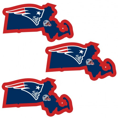 New England Patriots Home State Decal - 3 Pack