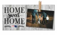 New England Patriots Home Sweet Home Clothespin Frame