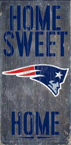New England Patriots Home Sweet Home Wood Sign