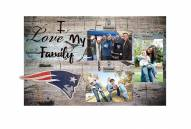 New England Patriots I Love My Family Clip Frame