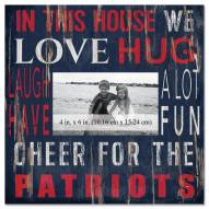 "New England Patriots In This House 10"" x 10"" Picture Frame"