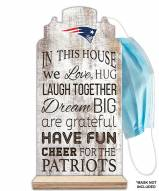 New England Patriots In This House Mask Holder